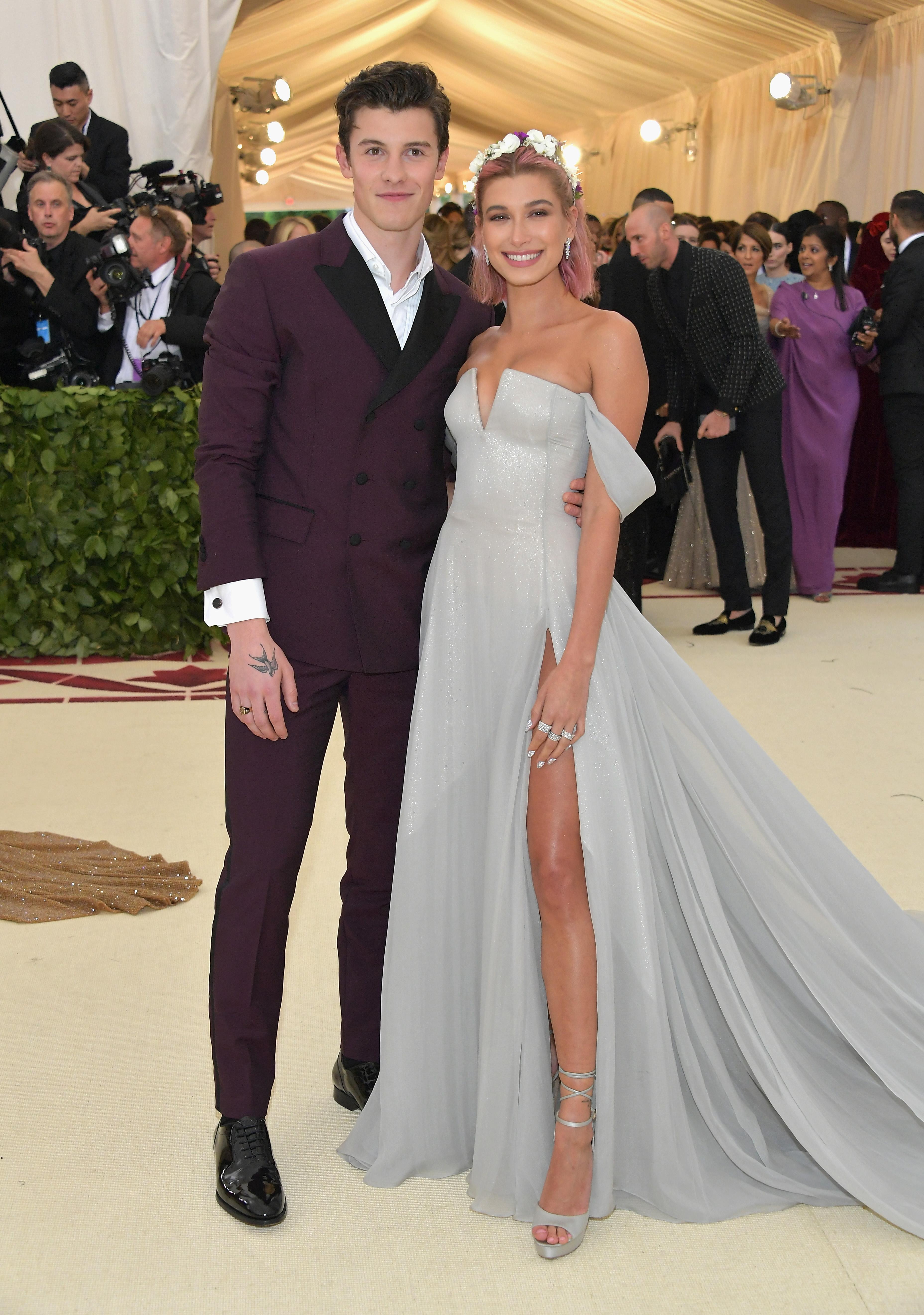 Shawn Mendes and Hailey Baldwin Meta Gala 2018