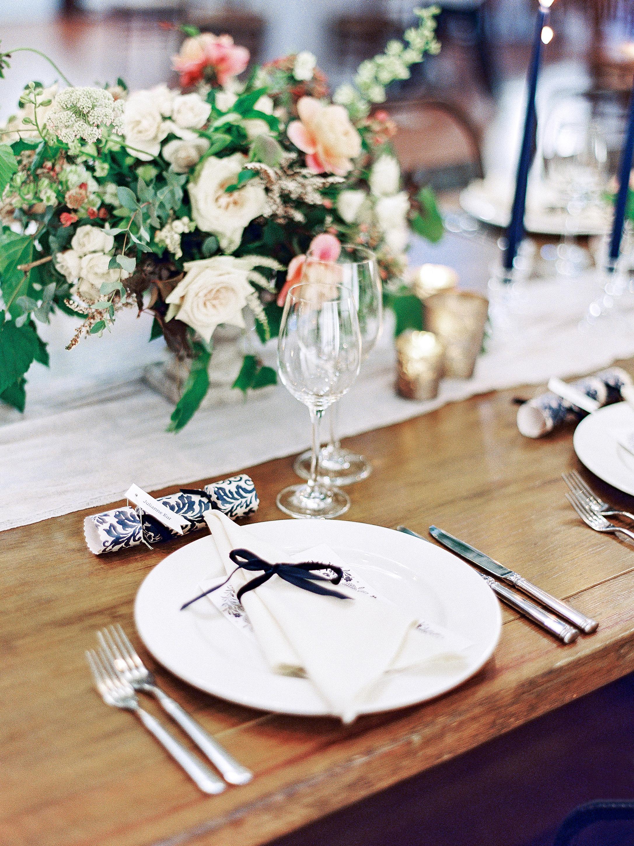 julianne aaron wedding place setting
