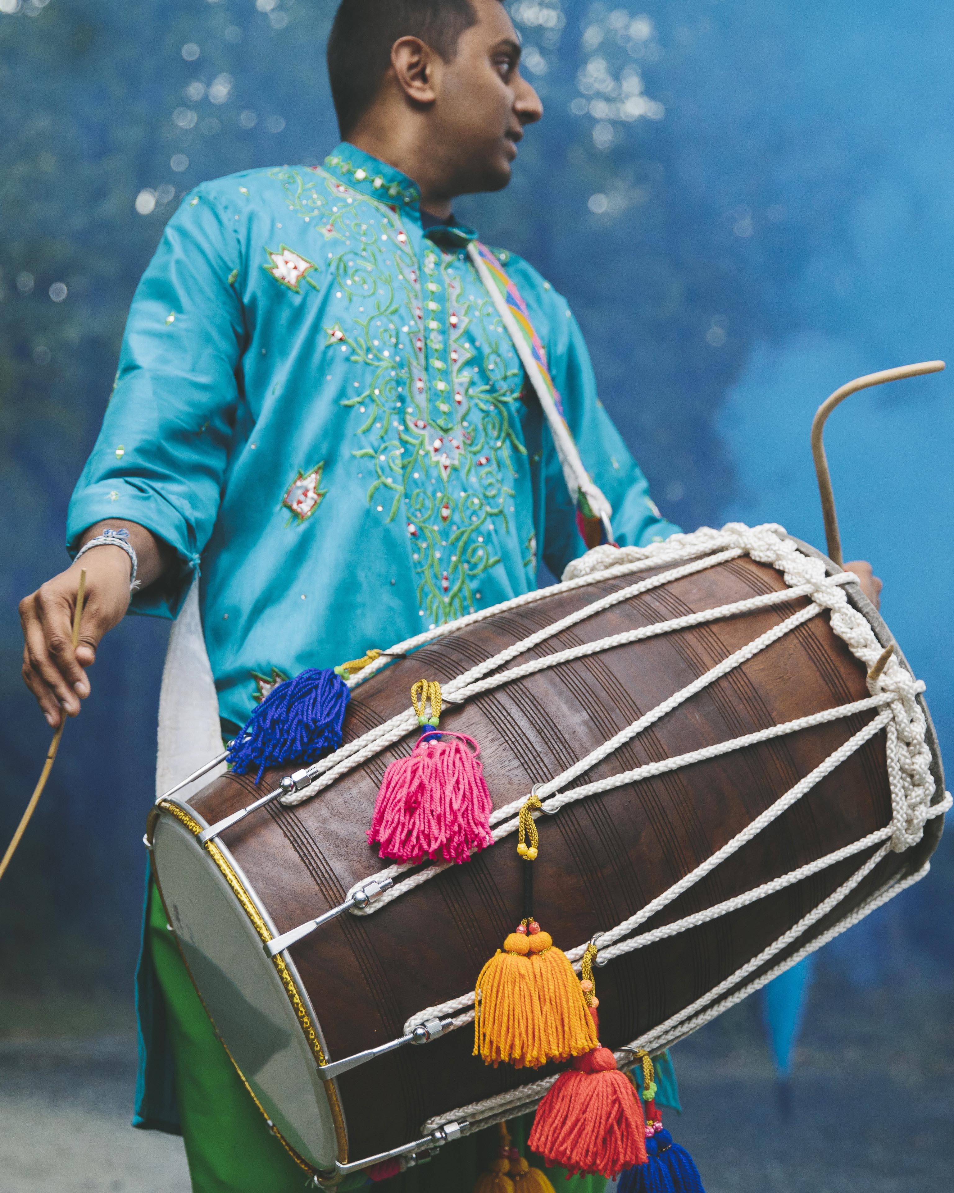sanjay steven wedding baraat drum