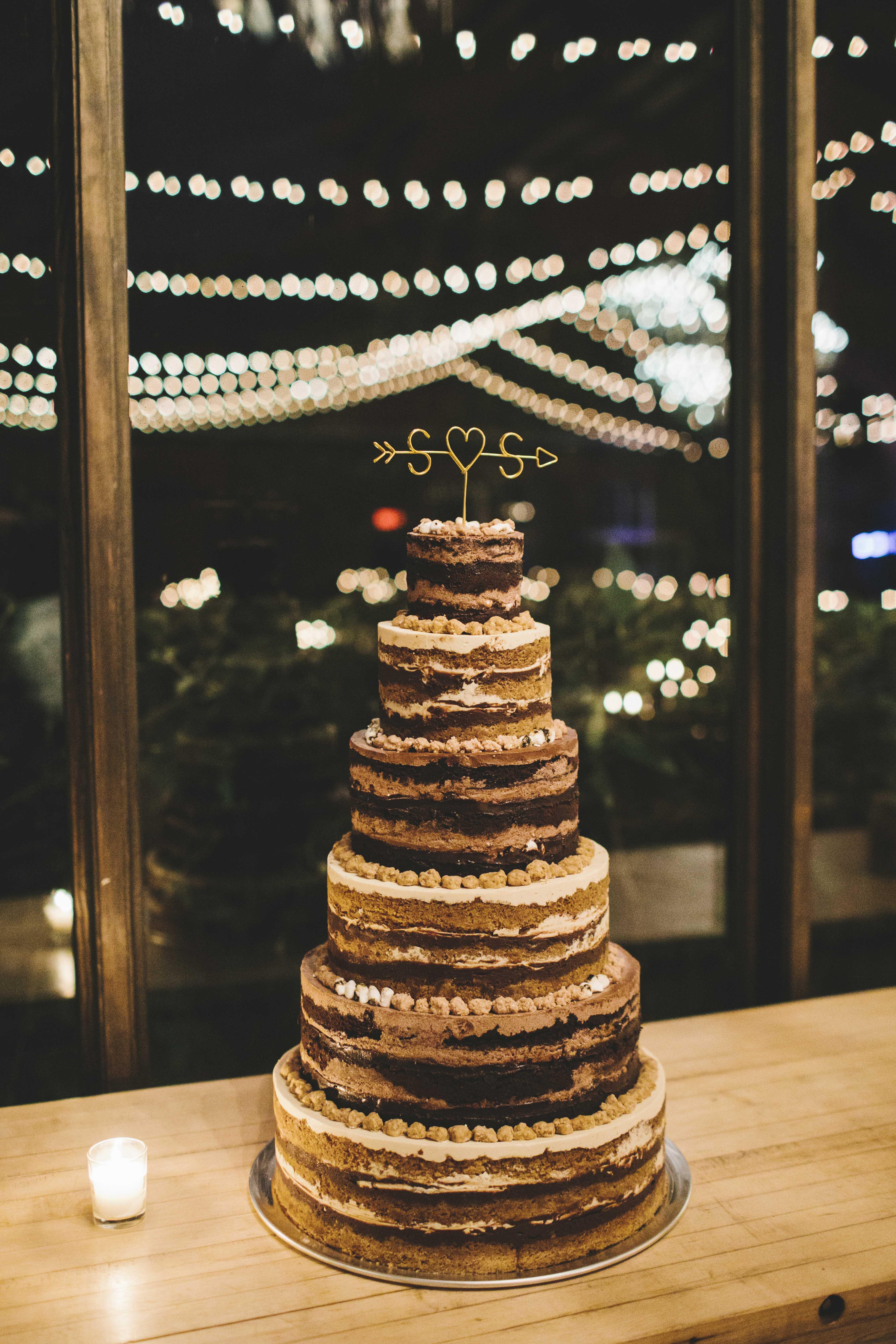 sanjay steven wedding naked cake