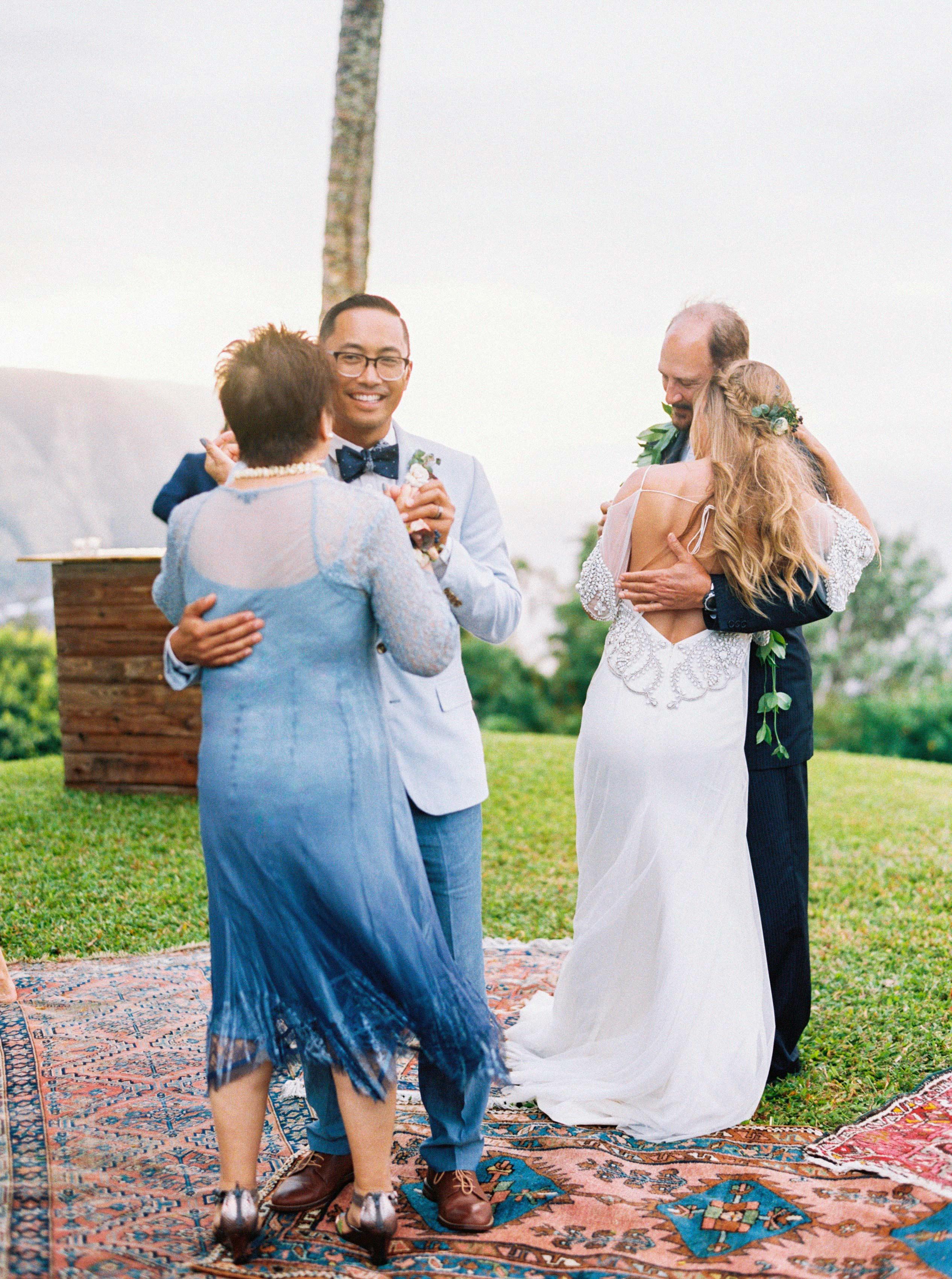 rebecca eryck wedding hawaii parents bride groom