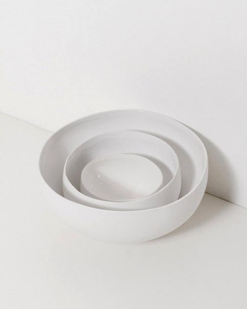 pottery anniversary gifts beyaz nesting bowls dreslyn