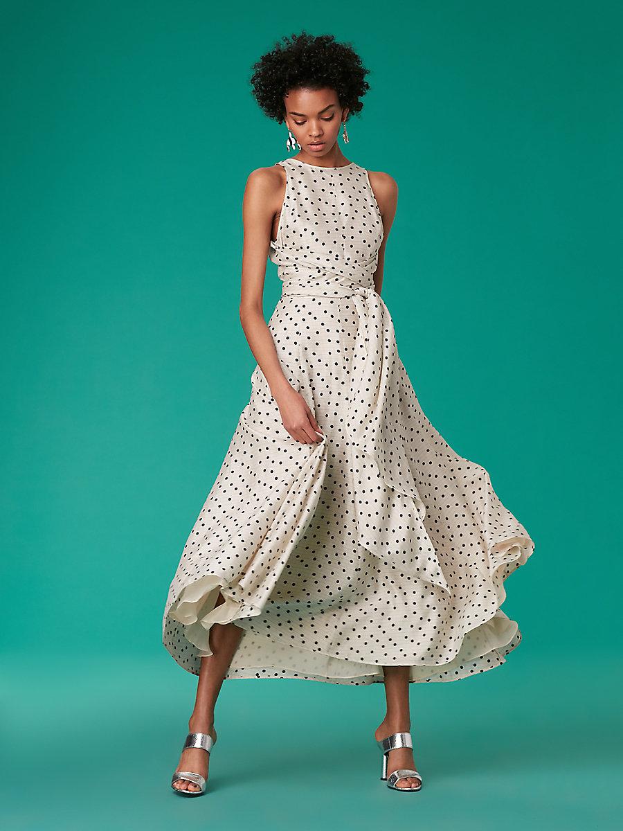 Silk Mother of the Bride Dress, DVF Polka Dot Dress