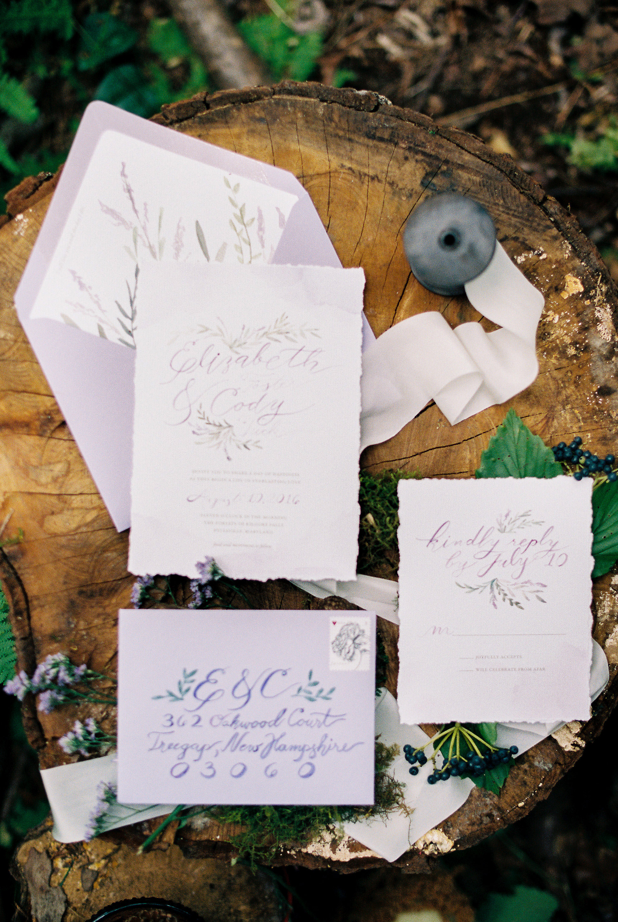deckle edge invitations meghan rose photography