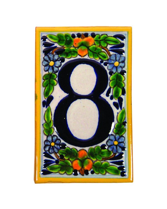 porcelain house number tile