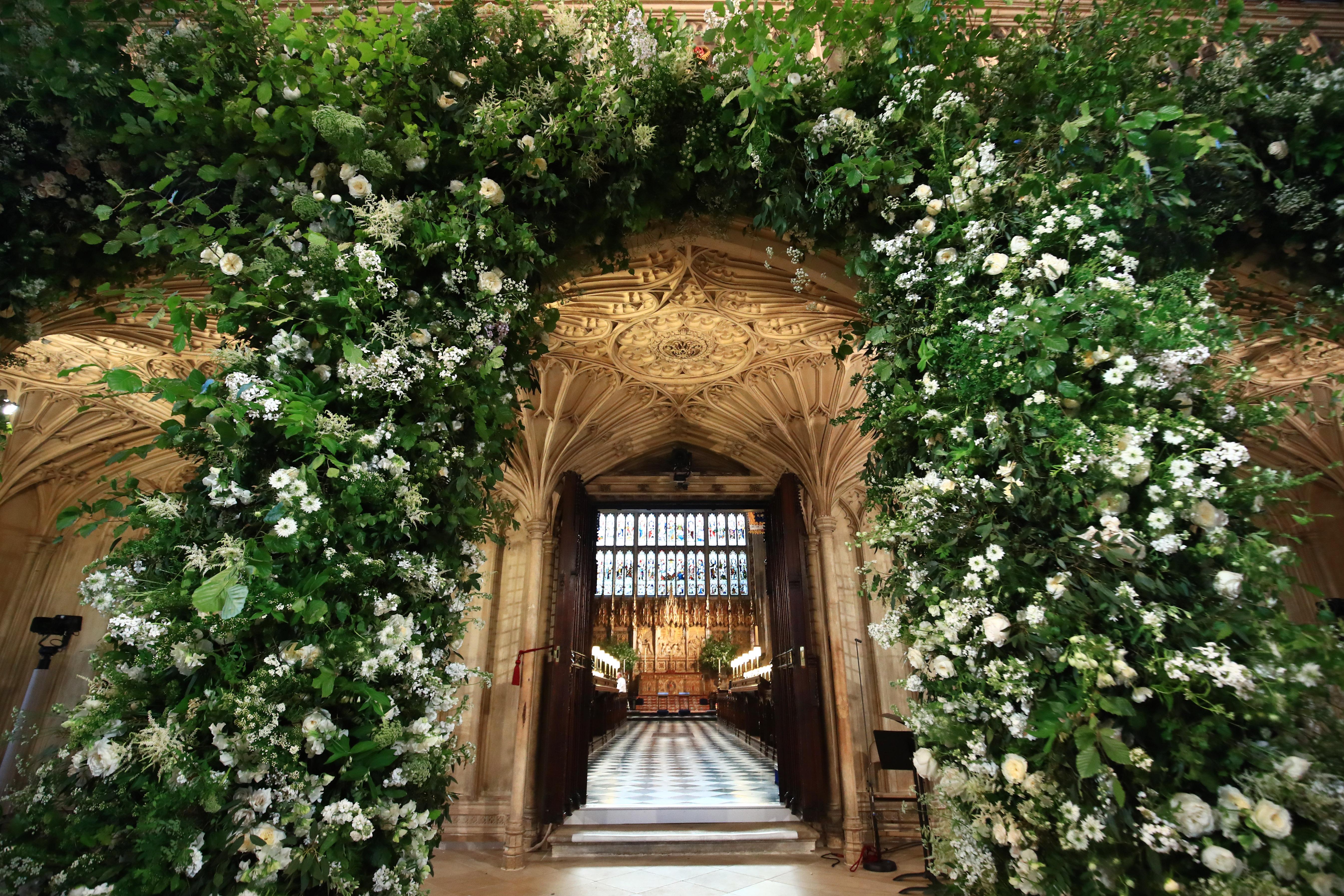 Royal Wedding Flowers Arch