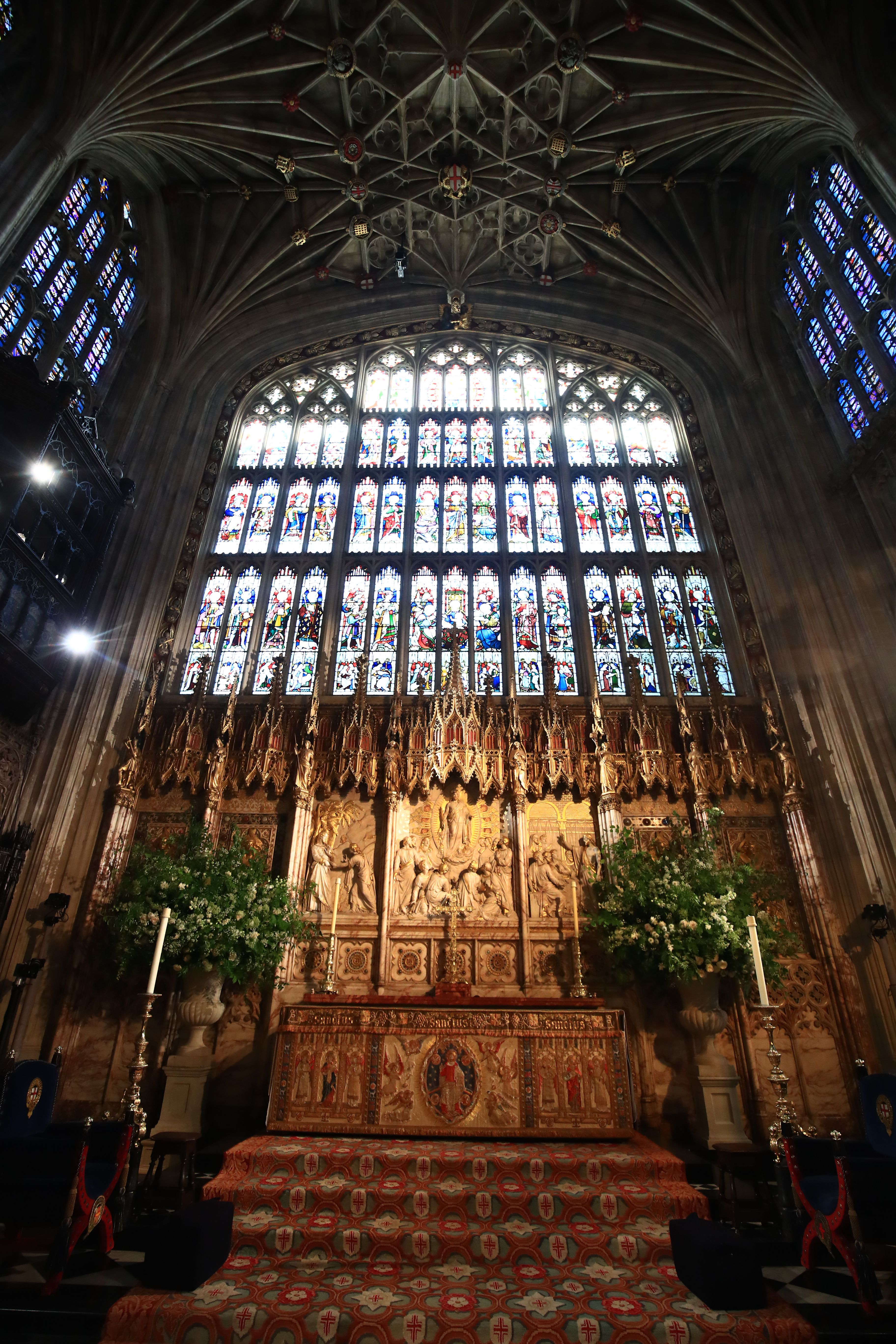 Royal Wedding Flowers Altar