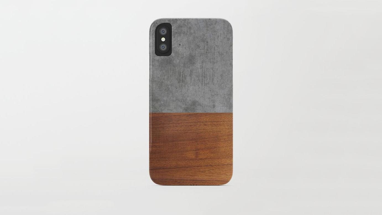 wood anniversary gift phone case