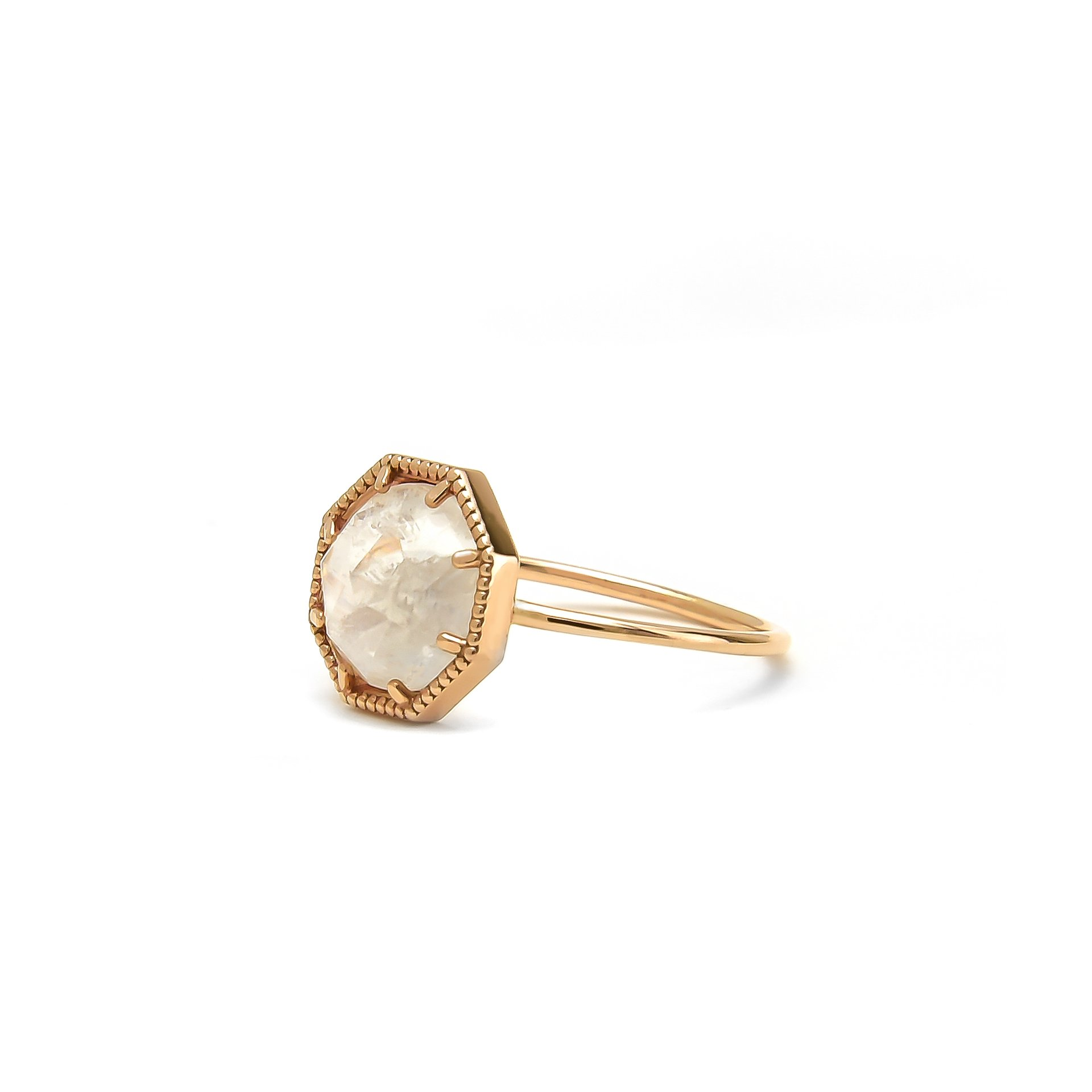 Moonstone Engagement Rings, Grace Lee Bezel Ring