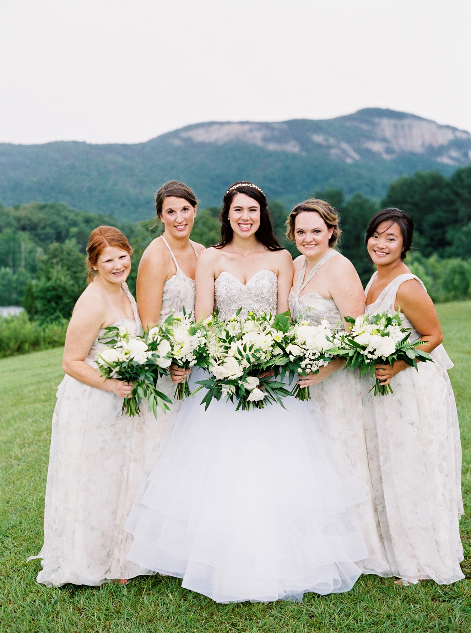 dani jackson wedding bride with bridesmaids