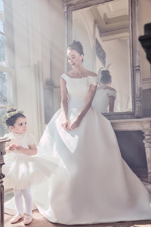 sareh nouri wedding dress spring 2019 off the shoulder a-line with floral detail