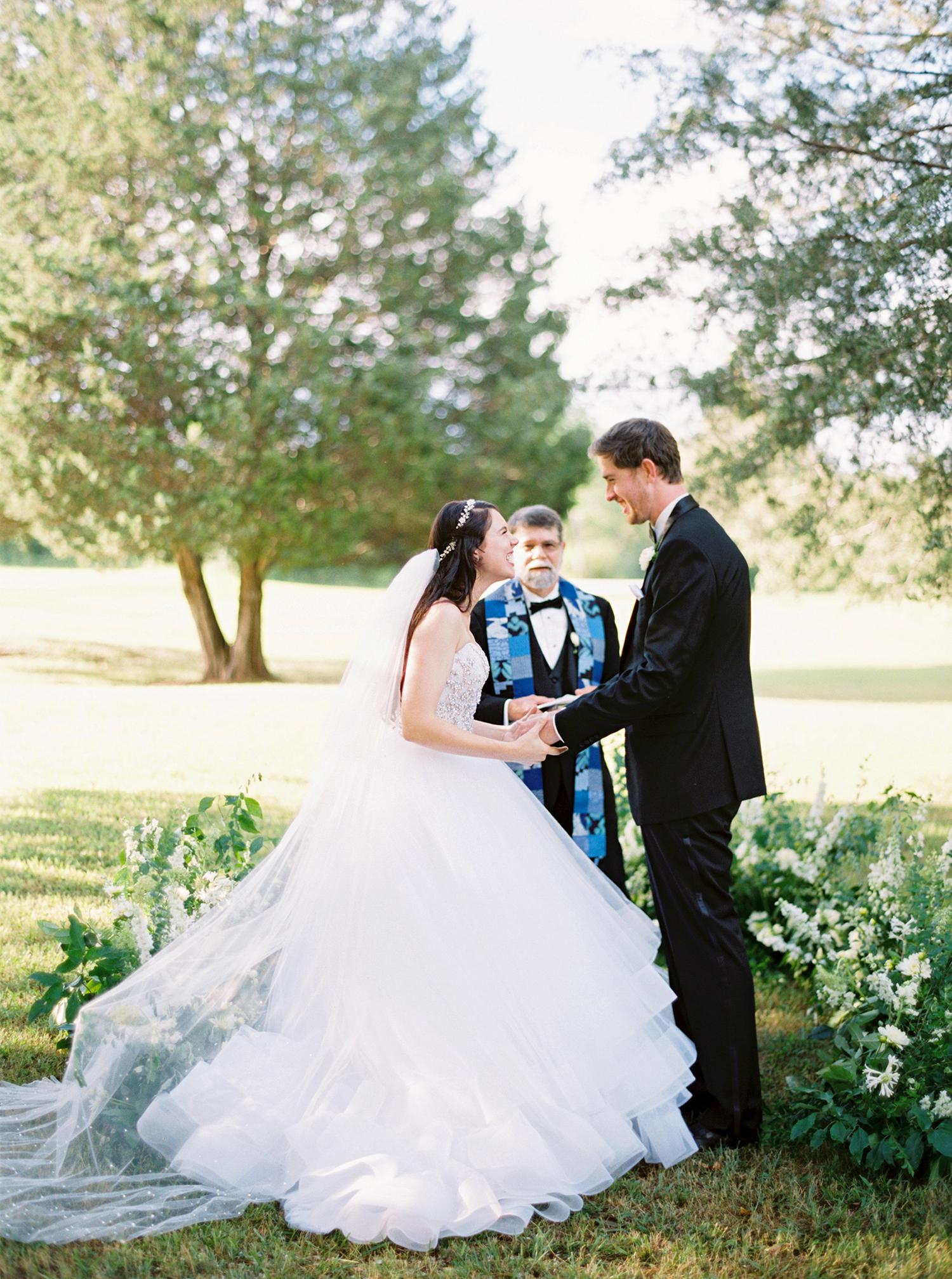 dani jackson wedding ceremony couple laughing