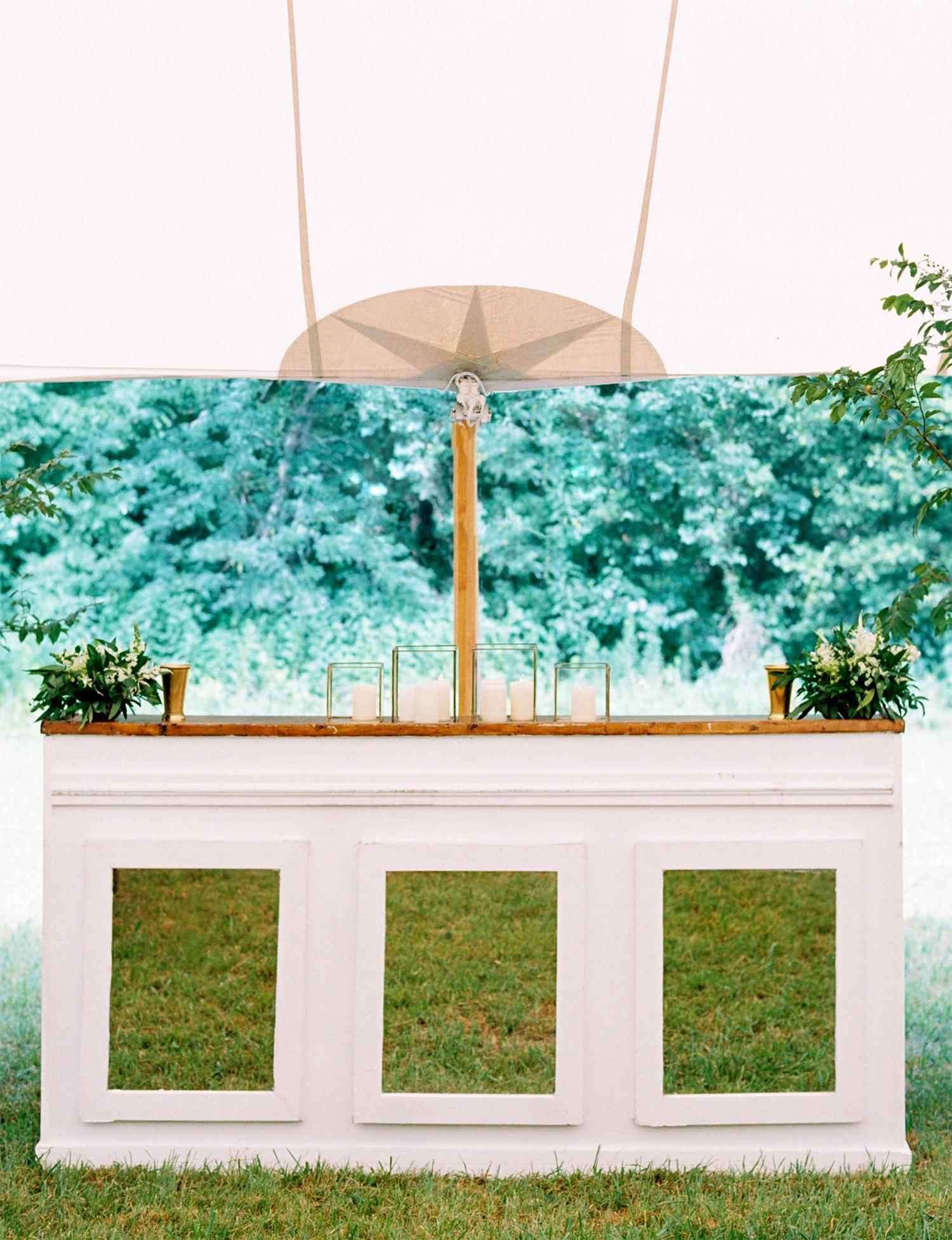 dani jackson wedding bar and tent