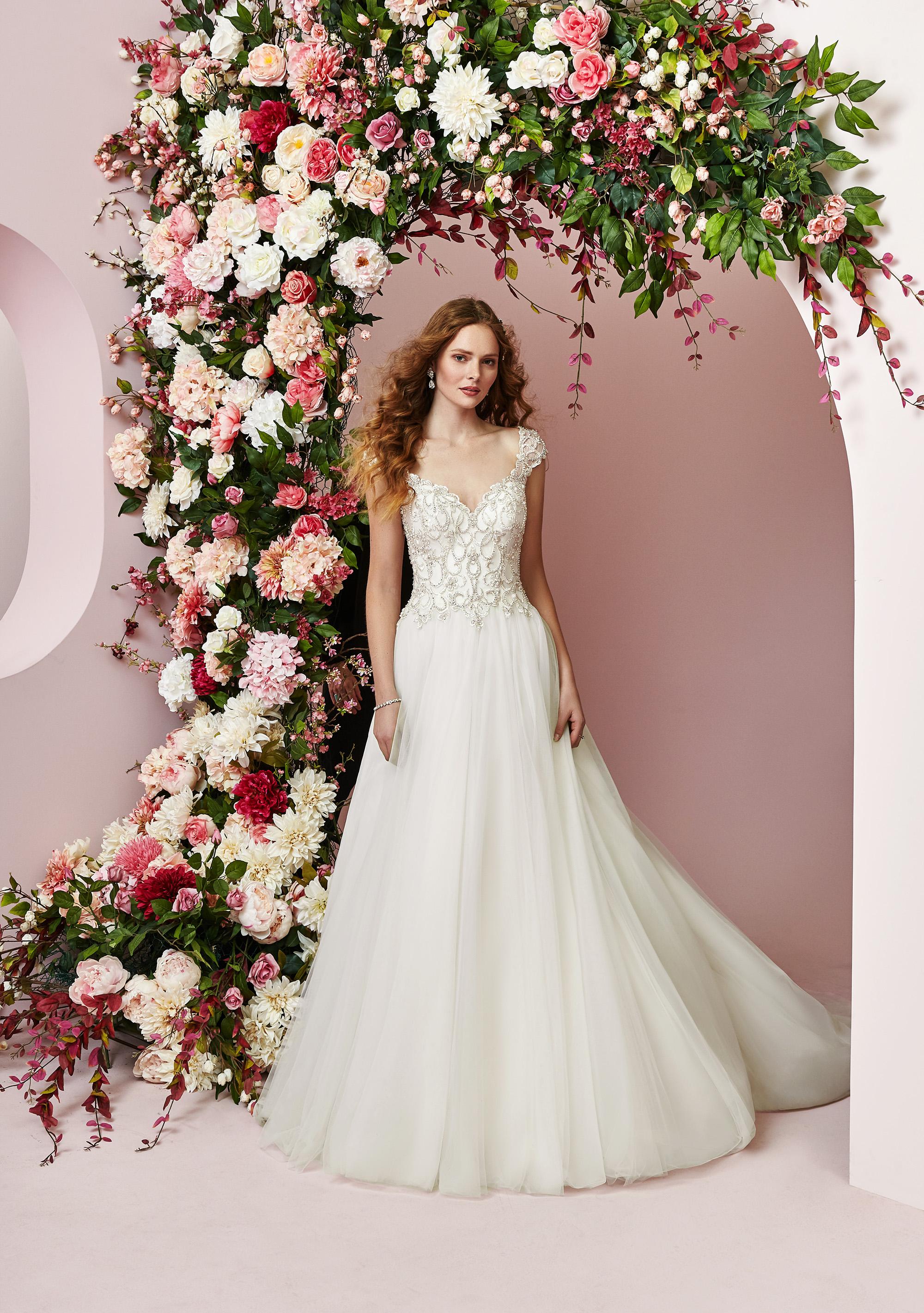 Rebecca Ingram wedding dress spring 2019 a-line sweetheart neckline tulle