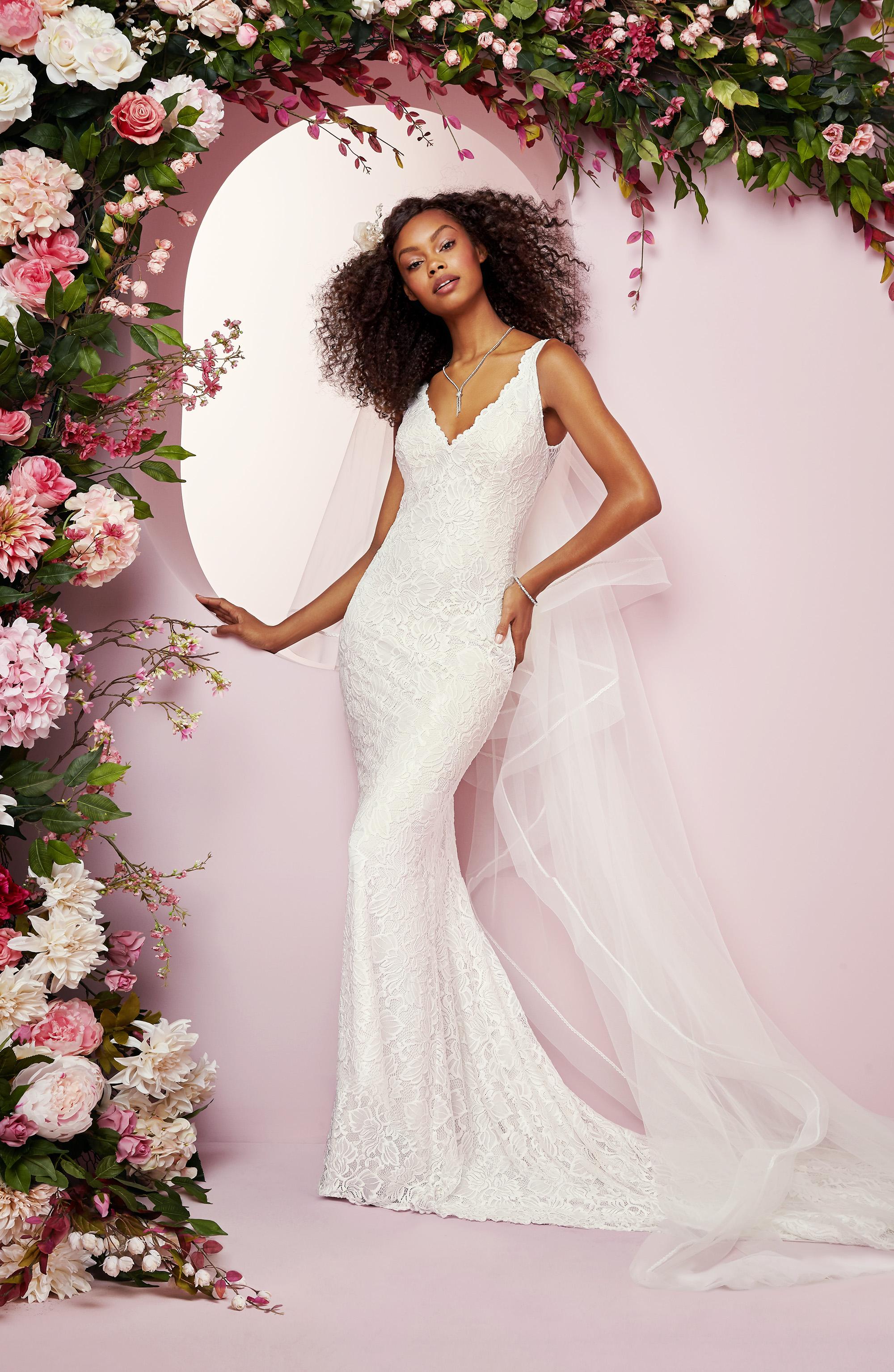 Rebecca Ingram wedding dress spring 2019 sheath v-neck