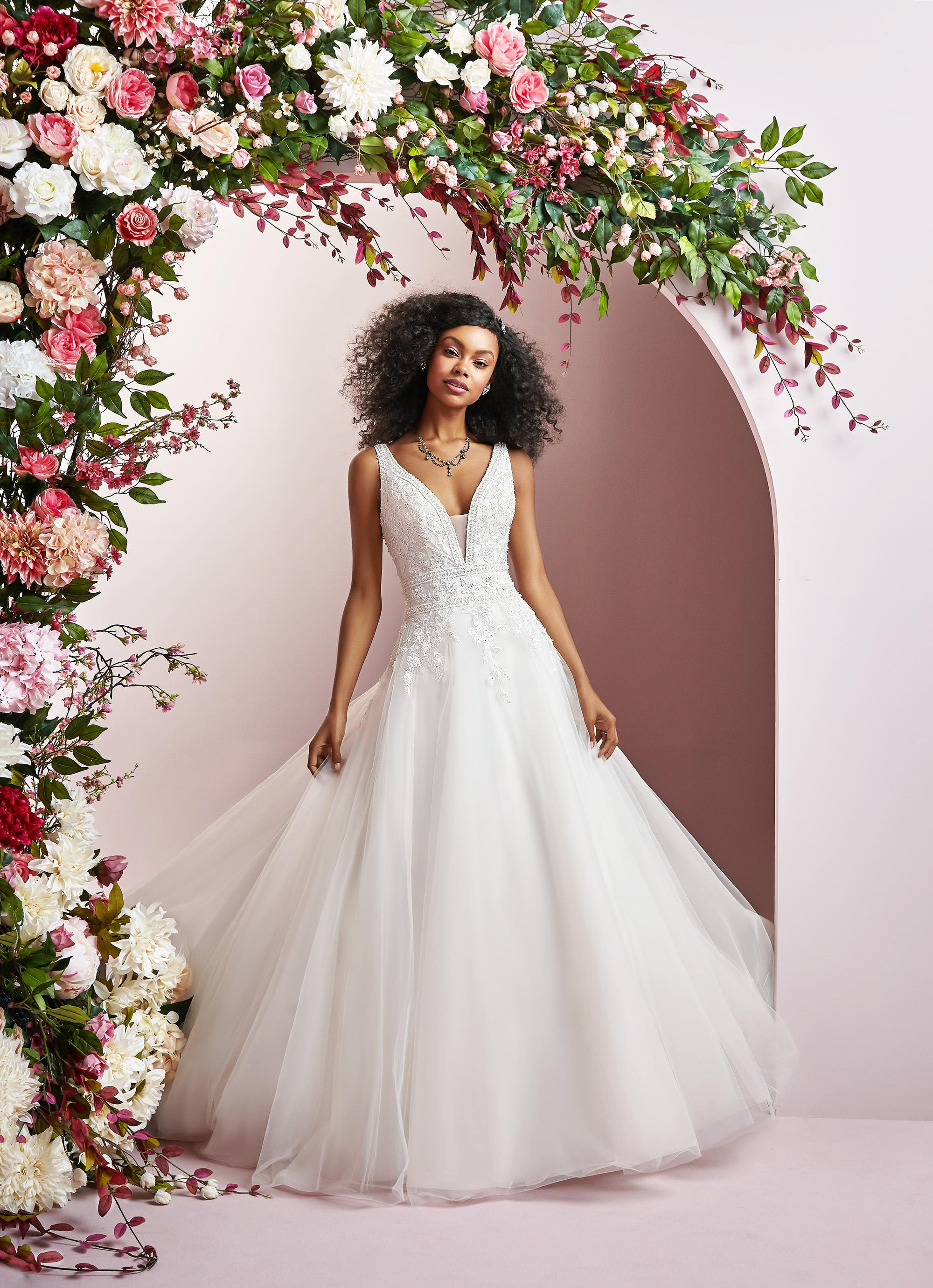 Rebecca Ingram wedding dress spring 2019 a-line v-neck tulle