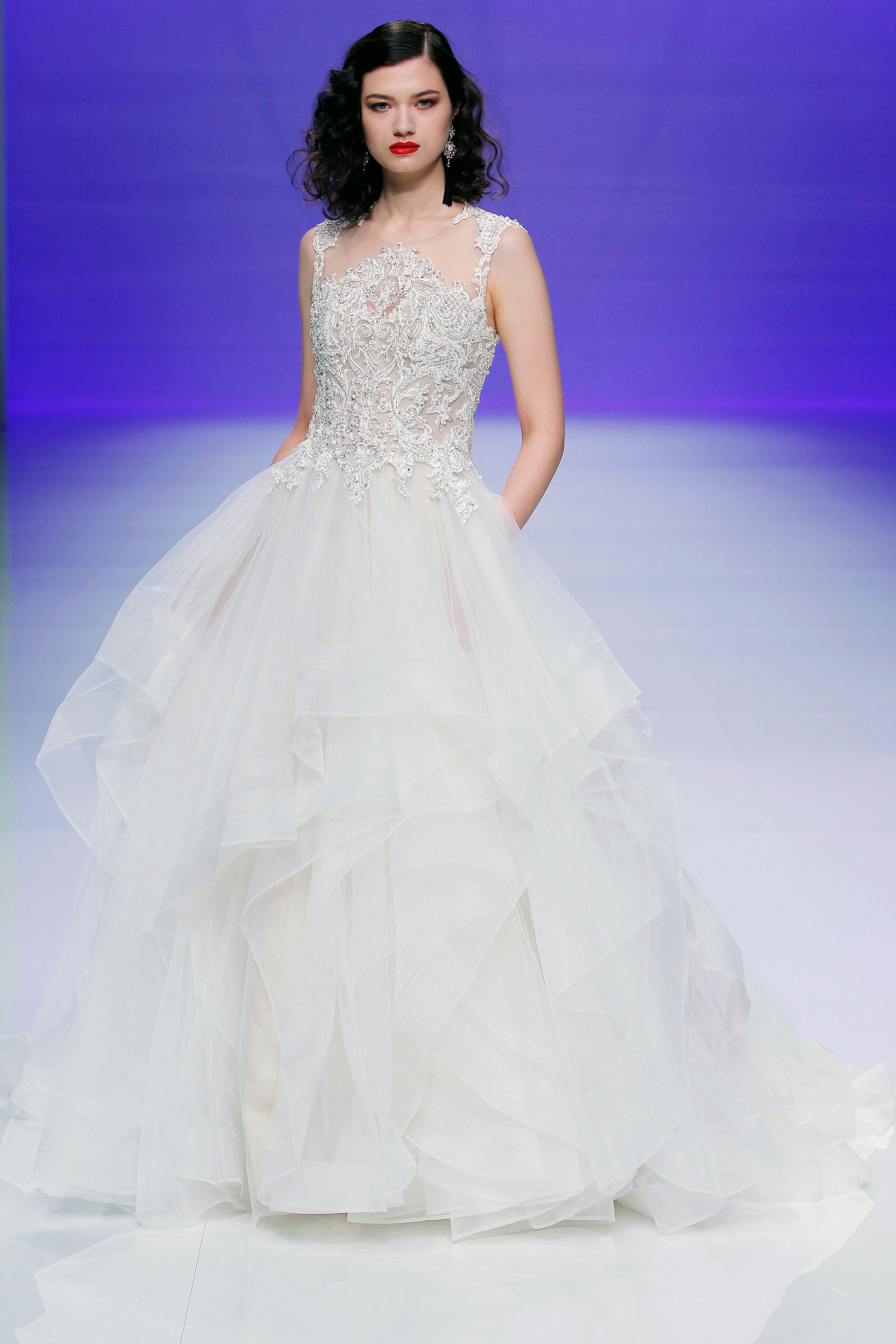 sottero midgley dress spring 2019 ruffles sleeveless a-line