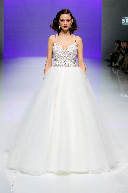 sottero midgley dress spring 2019 tulle ball gown spaghetti strap