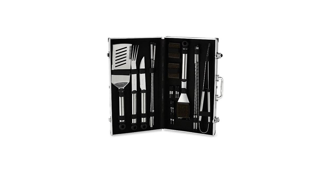 aluminum anniversary gift bbq tools briefcase