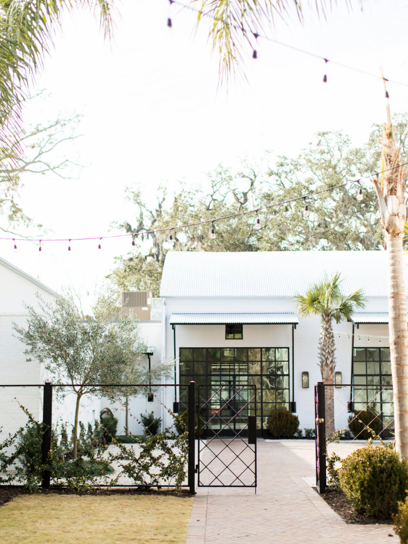 new venue outdoor building exterior with fence