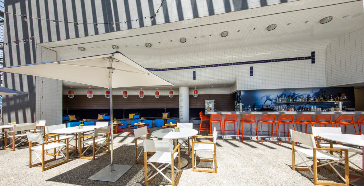 new venue outdoor bar seating space