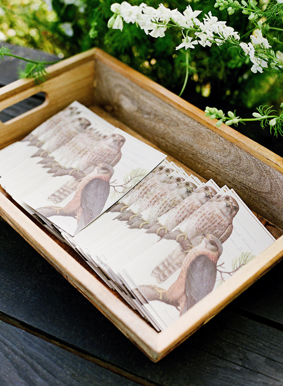 whitney zach wedding programs in wooden box