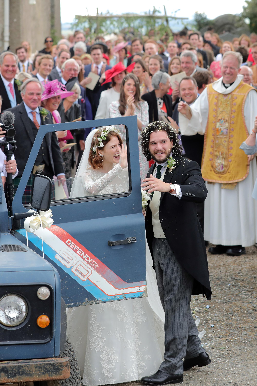 Kit Harington and Rose Leslie Getaway Car