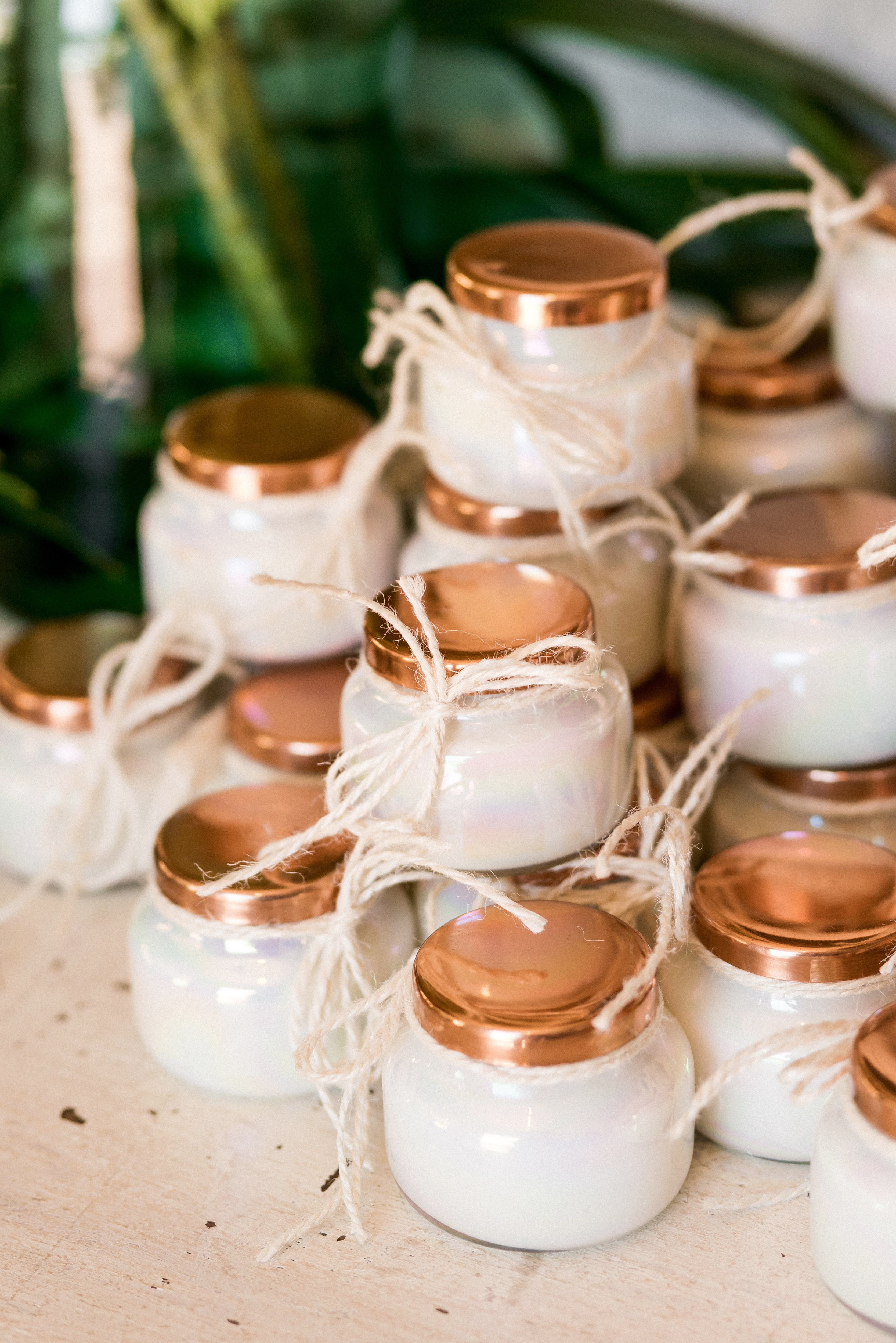 kara bridal shower candle favors