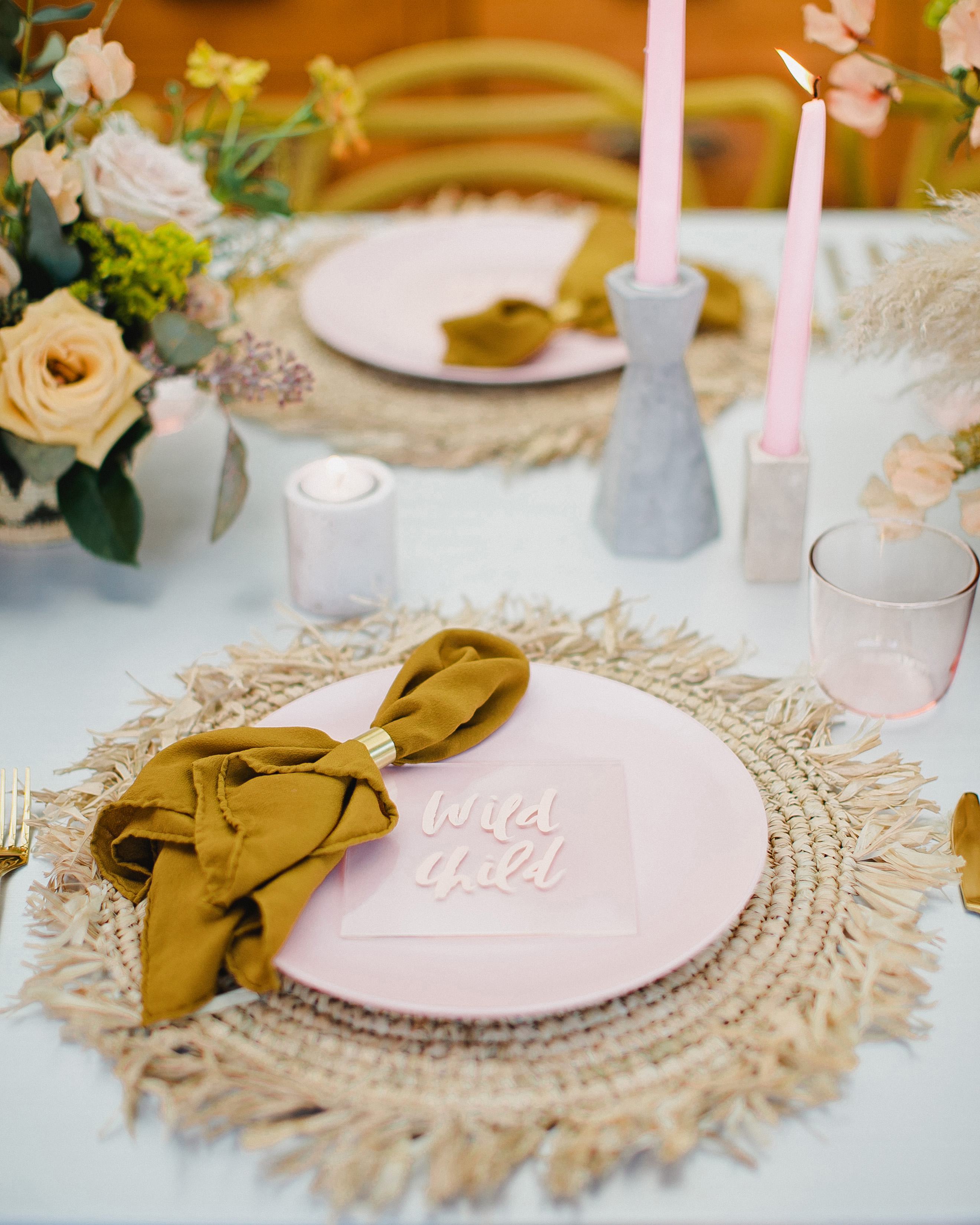 statement linens tablescape textiles