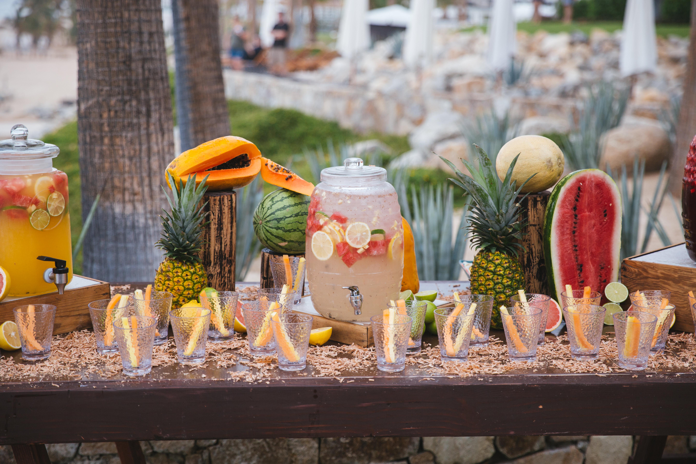Beach Wedding Shower Drink Station