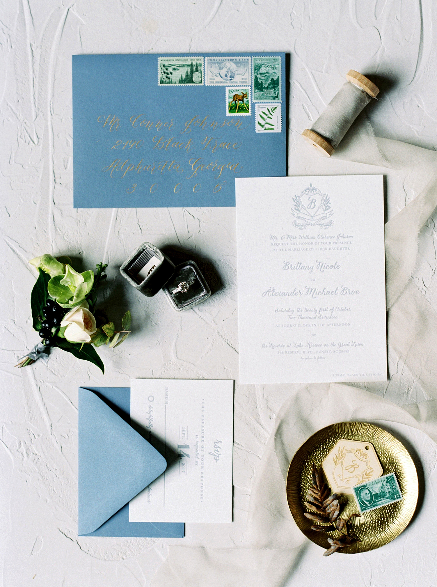 brittany alex wedding invitation