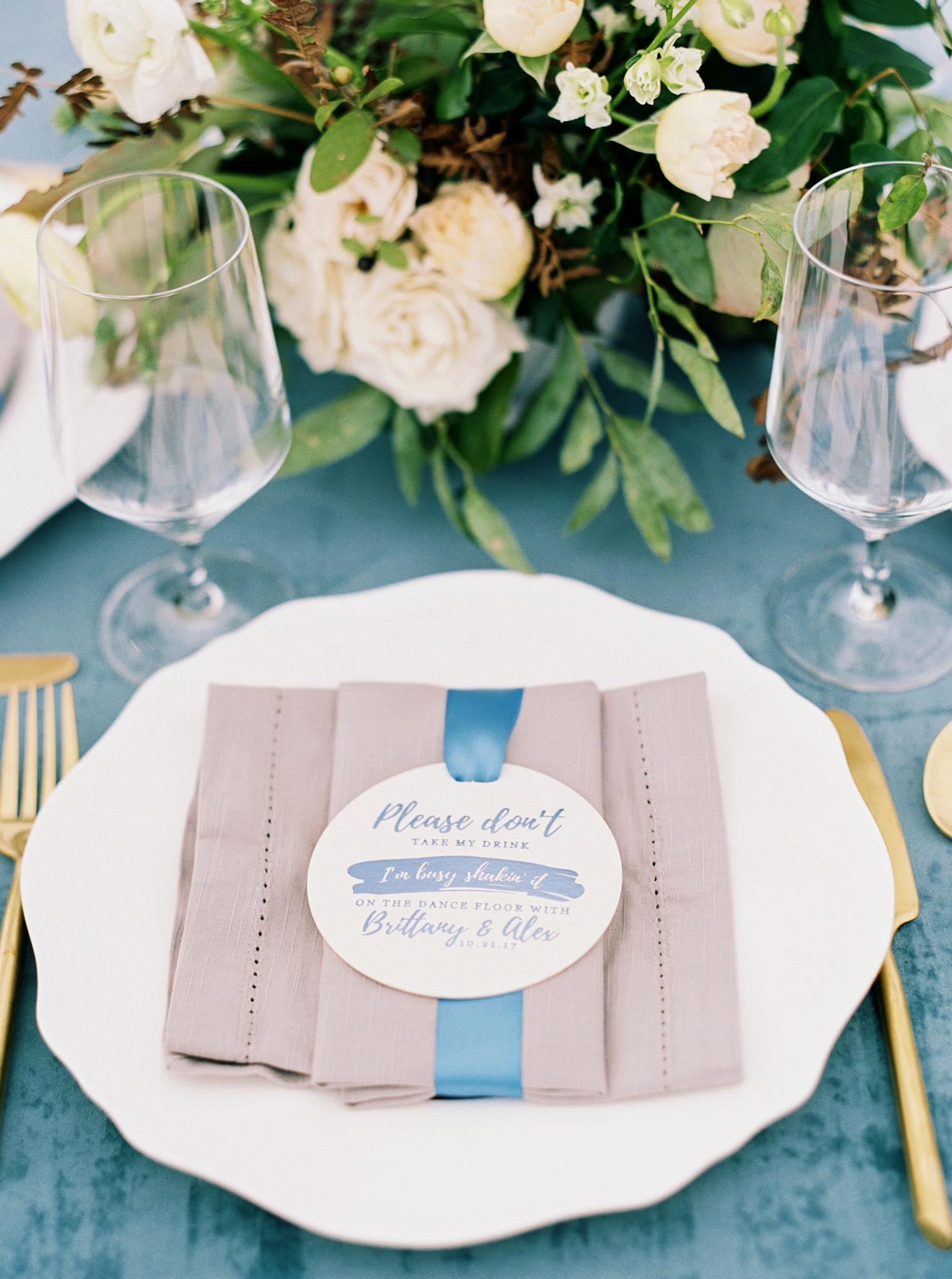 brittany alex wedding place setting