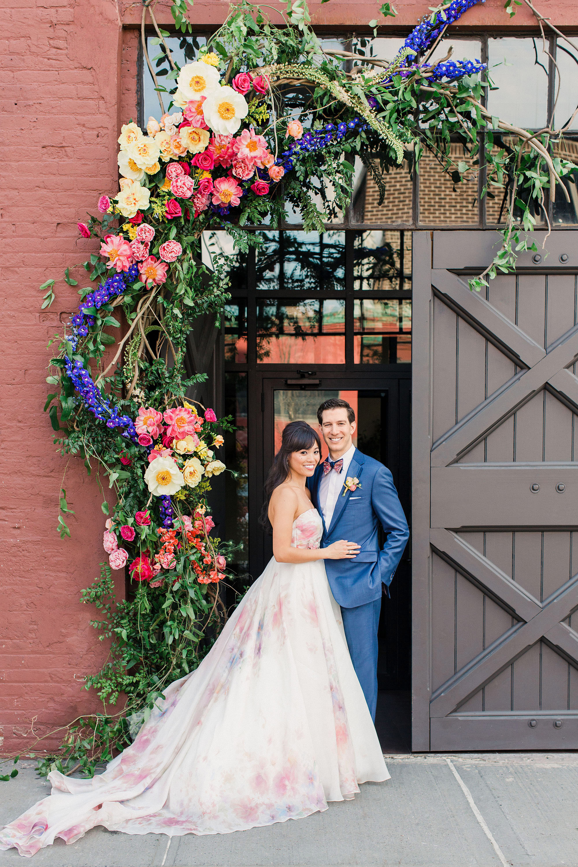 This Couple Went Bold And Colorful For Their Brooklyn New York