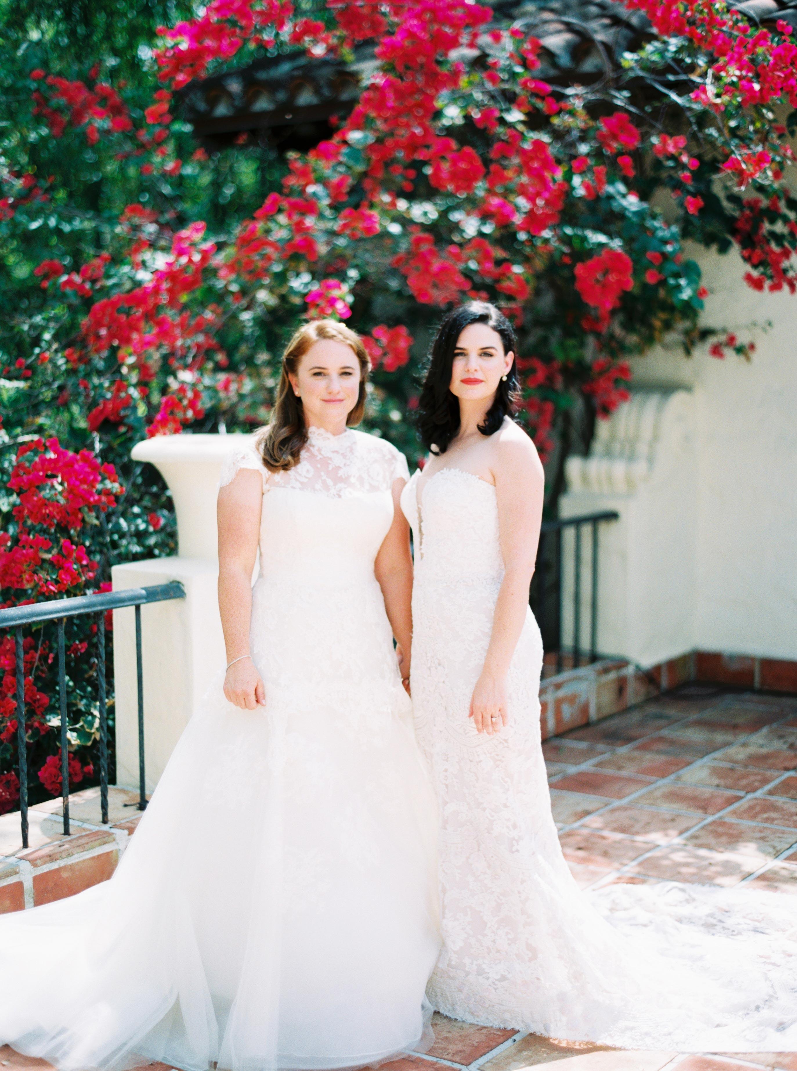 brides couple portrait