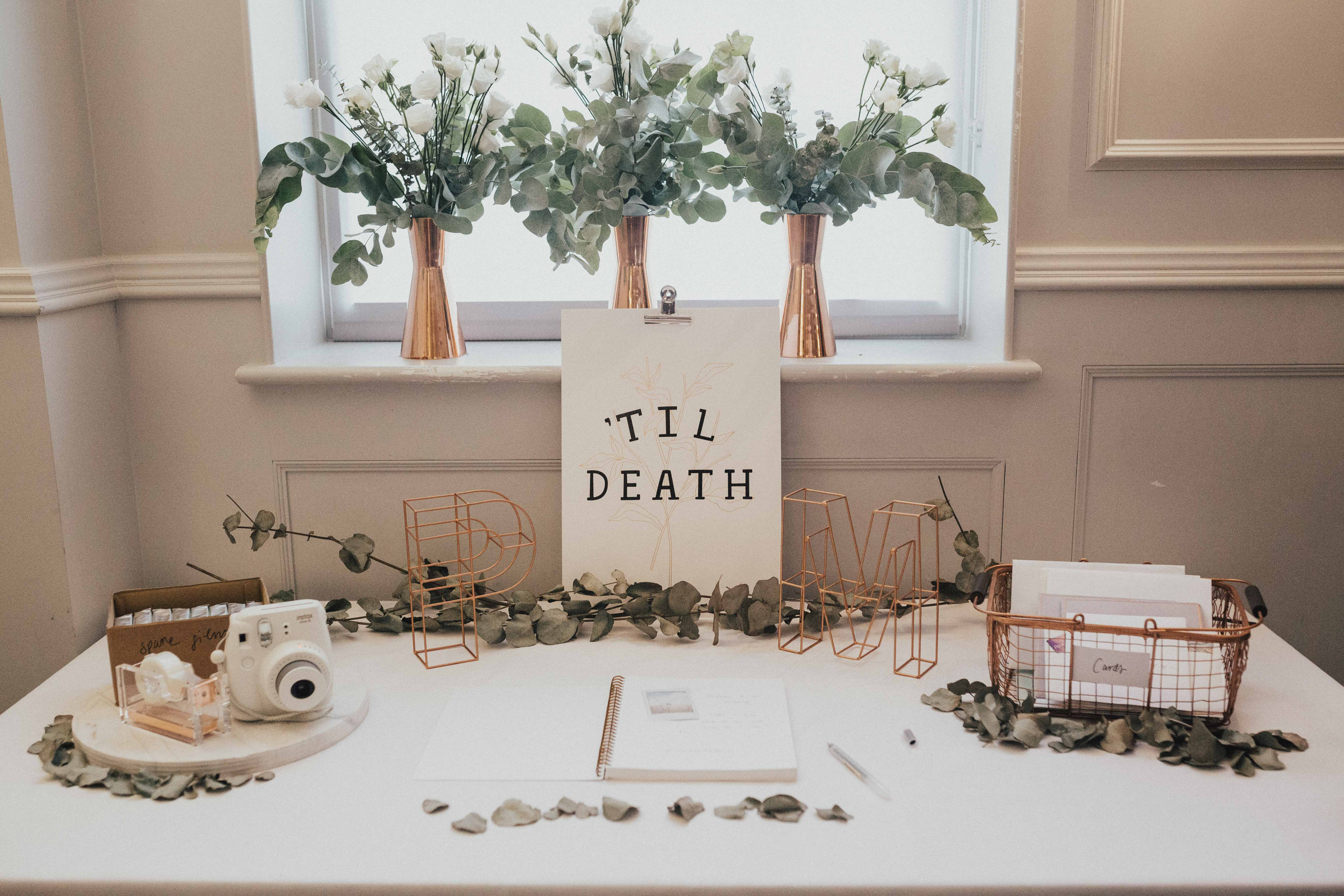 wedding gift tables nataly j photography wire basket