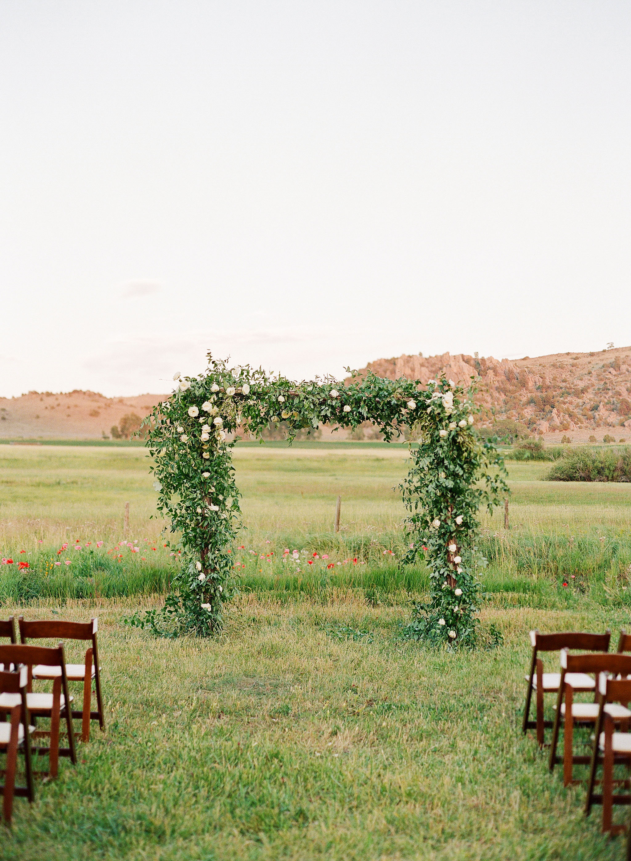 bessie john wedding ceremony altar