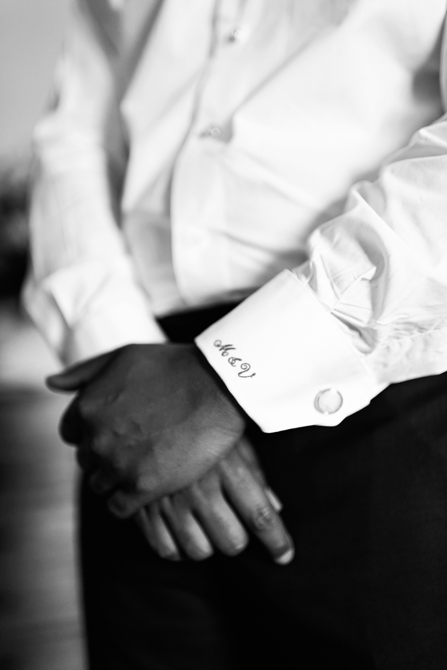 veronica mickias wedding embroidered shirt cuff