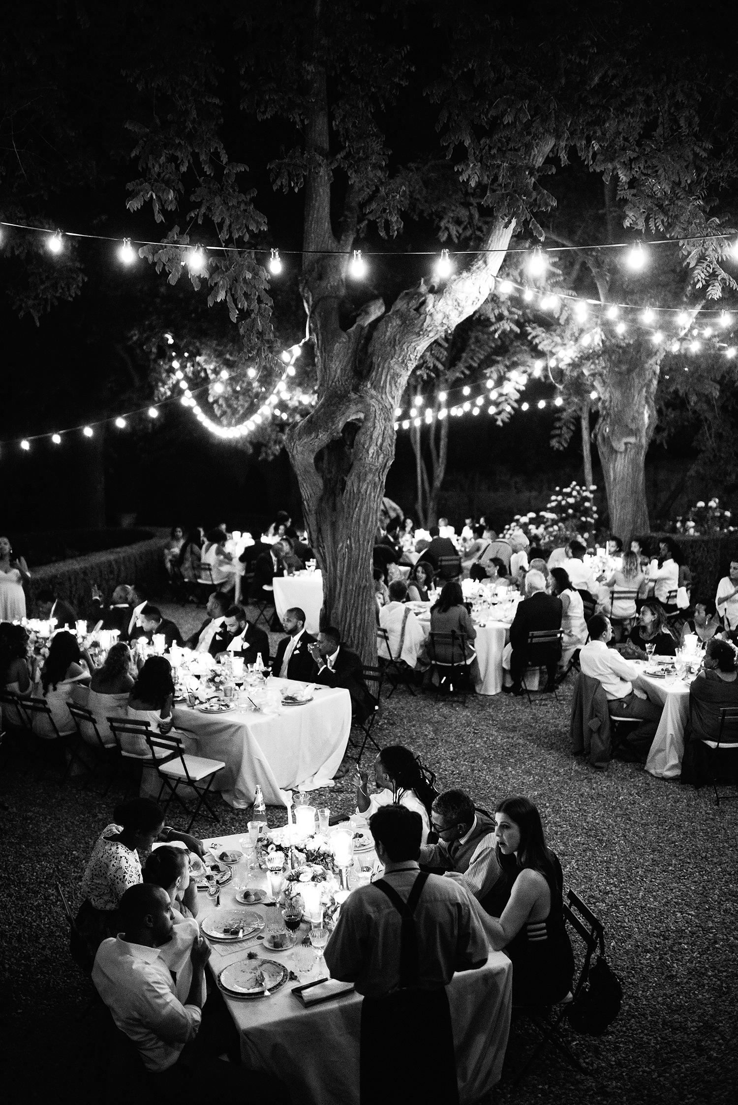 veronica mickias wedding outdoor reception