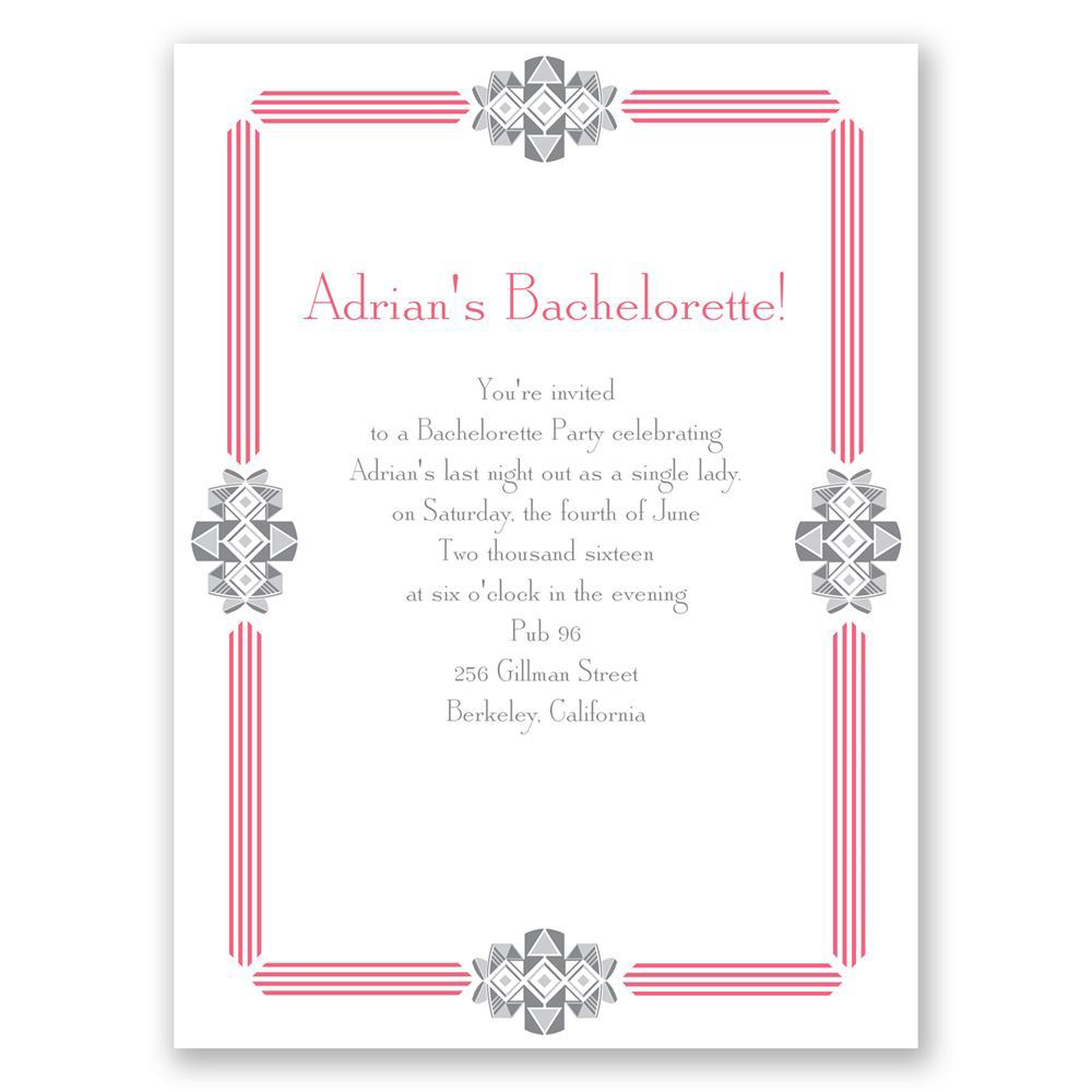 bachelorette party invites invitations by dawn bling