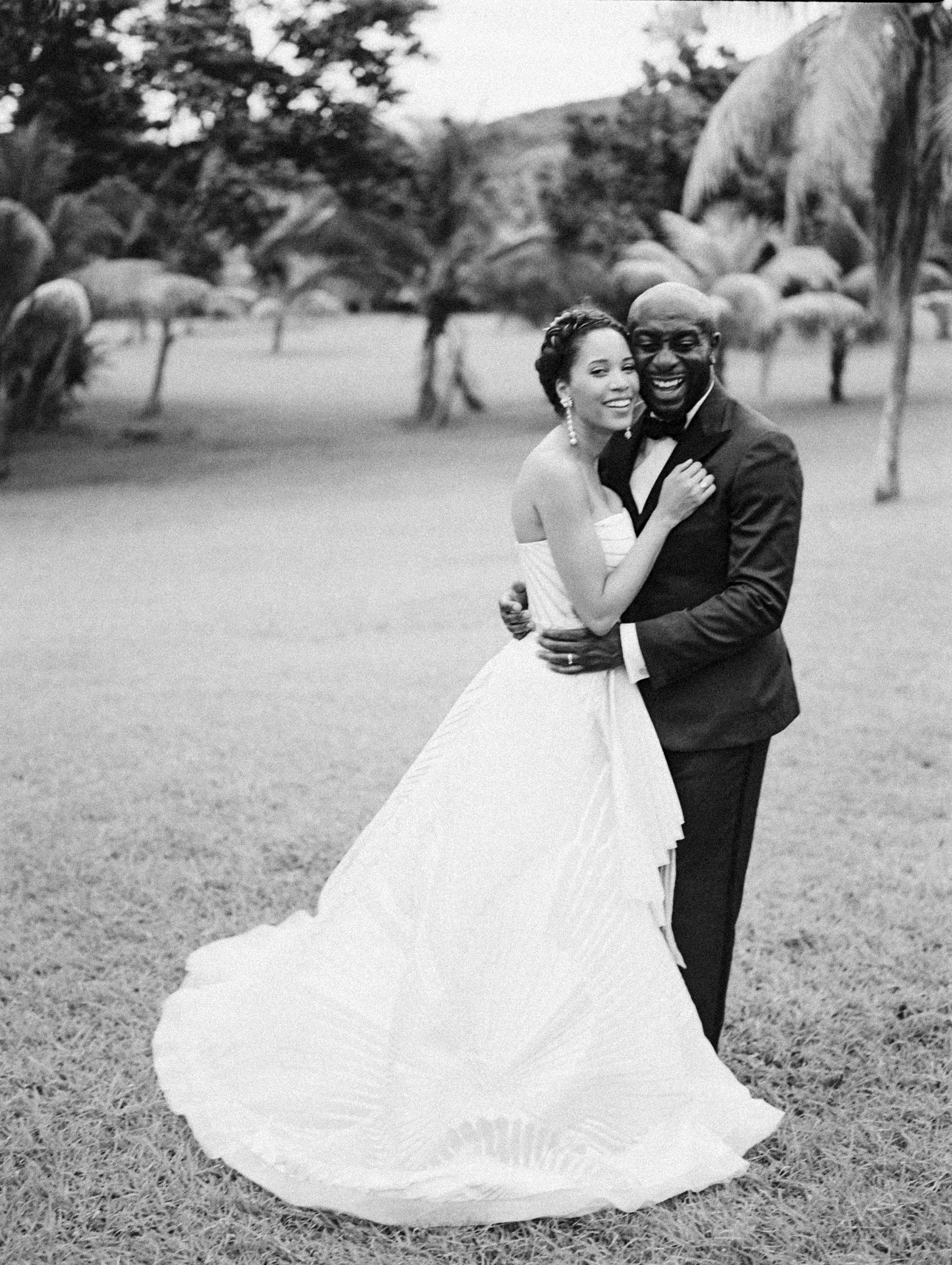 porsha terry wedding jamaica bride groom black white