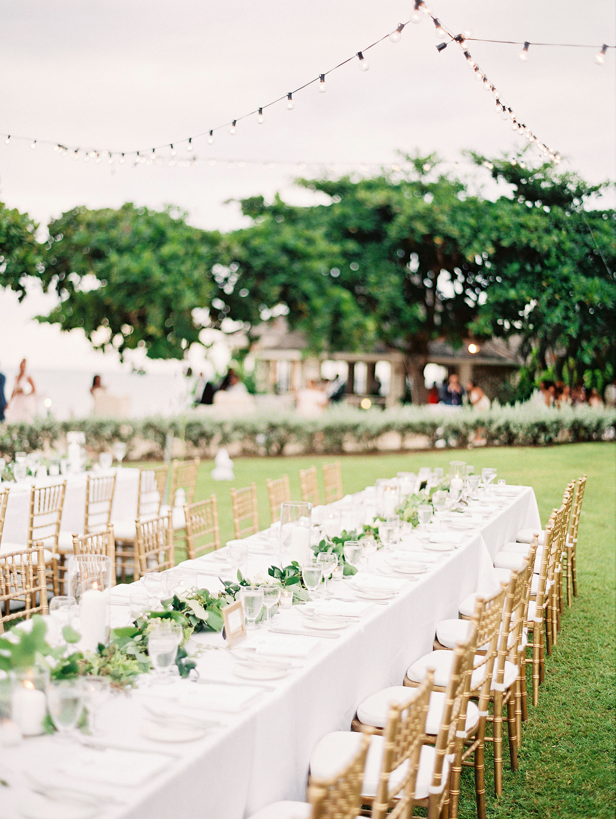 porsha terry wedding jamaica reception tables