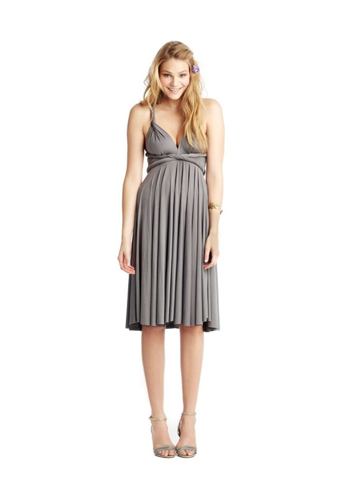 twobirds short bridesmaid dress with twisted top