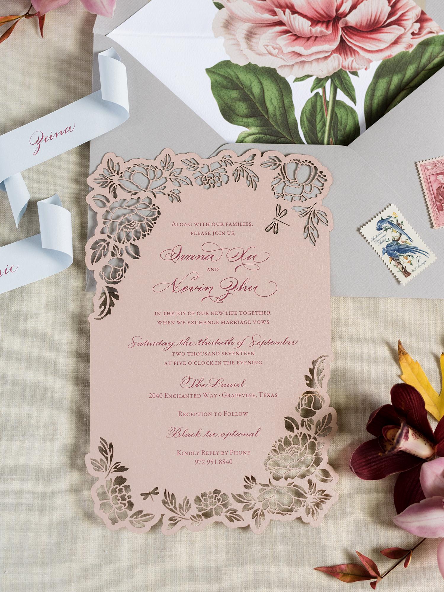 ivana nevin wedding invitation