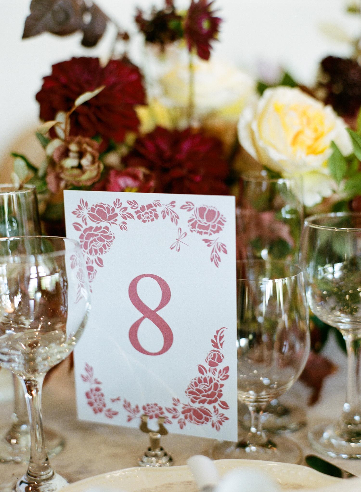 ivana nevin wedding table number