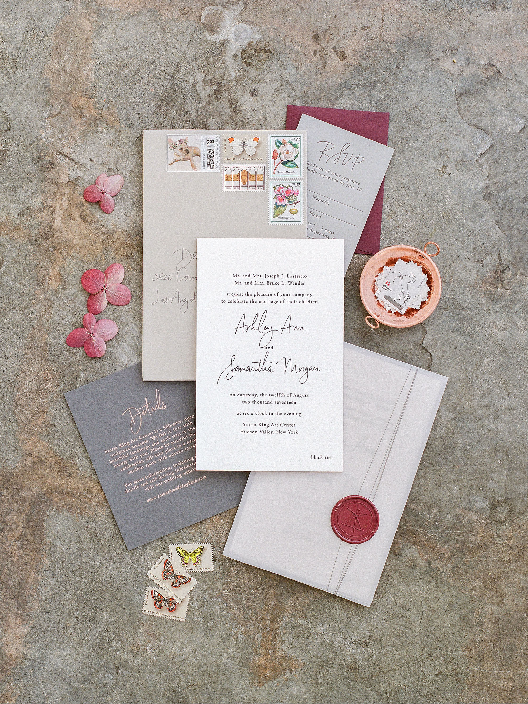 ashley samantha wedding cornwall ny invite
