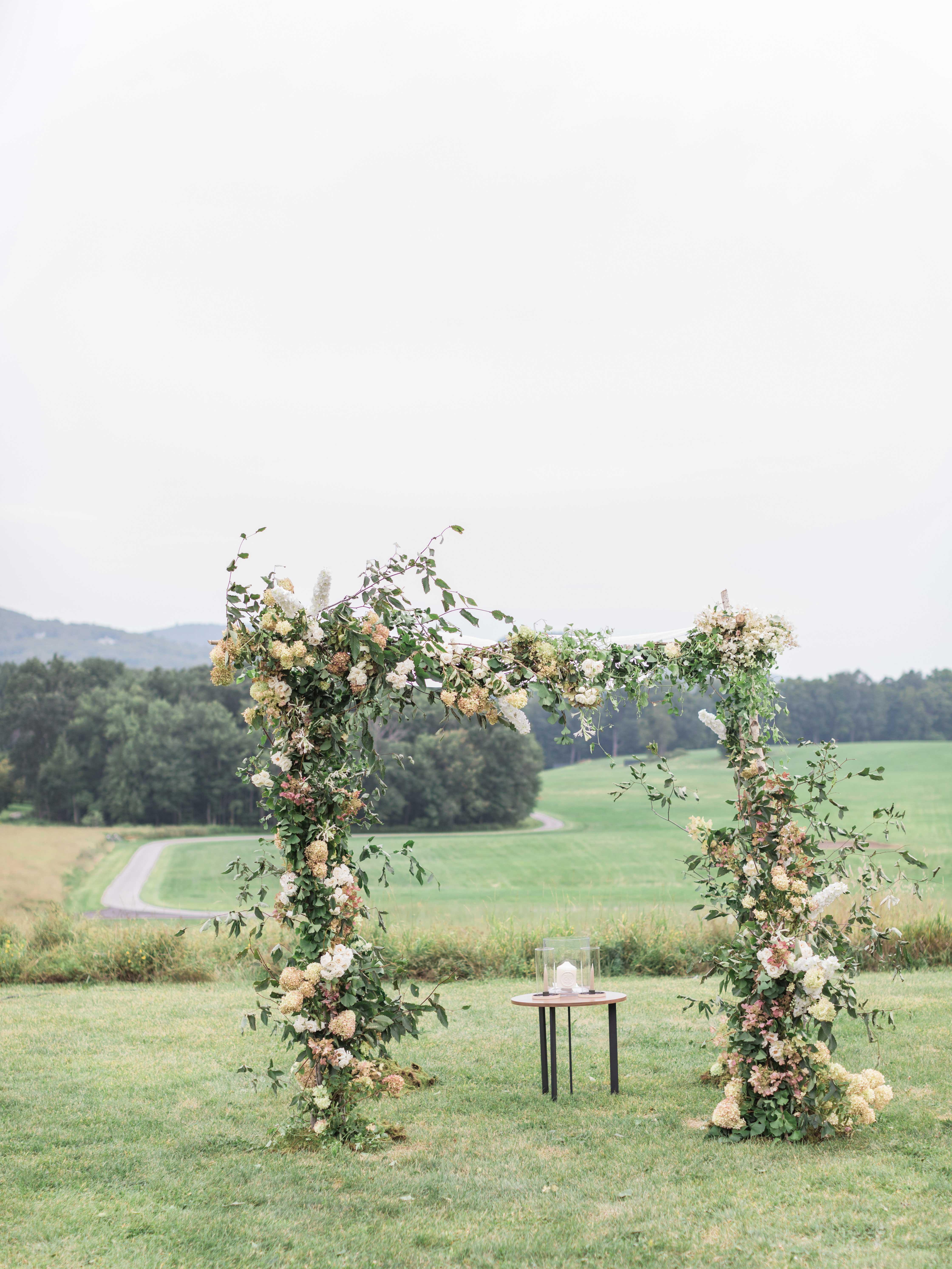 ashley samantha wedding cornwall ny ceremony arch