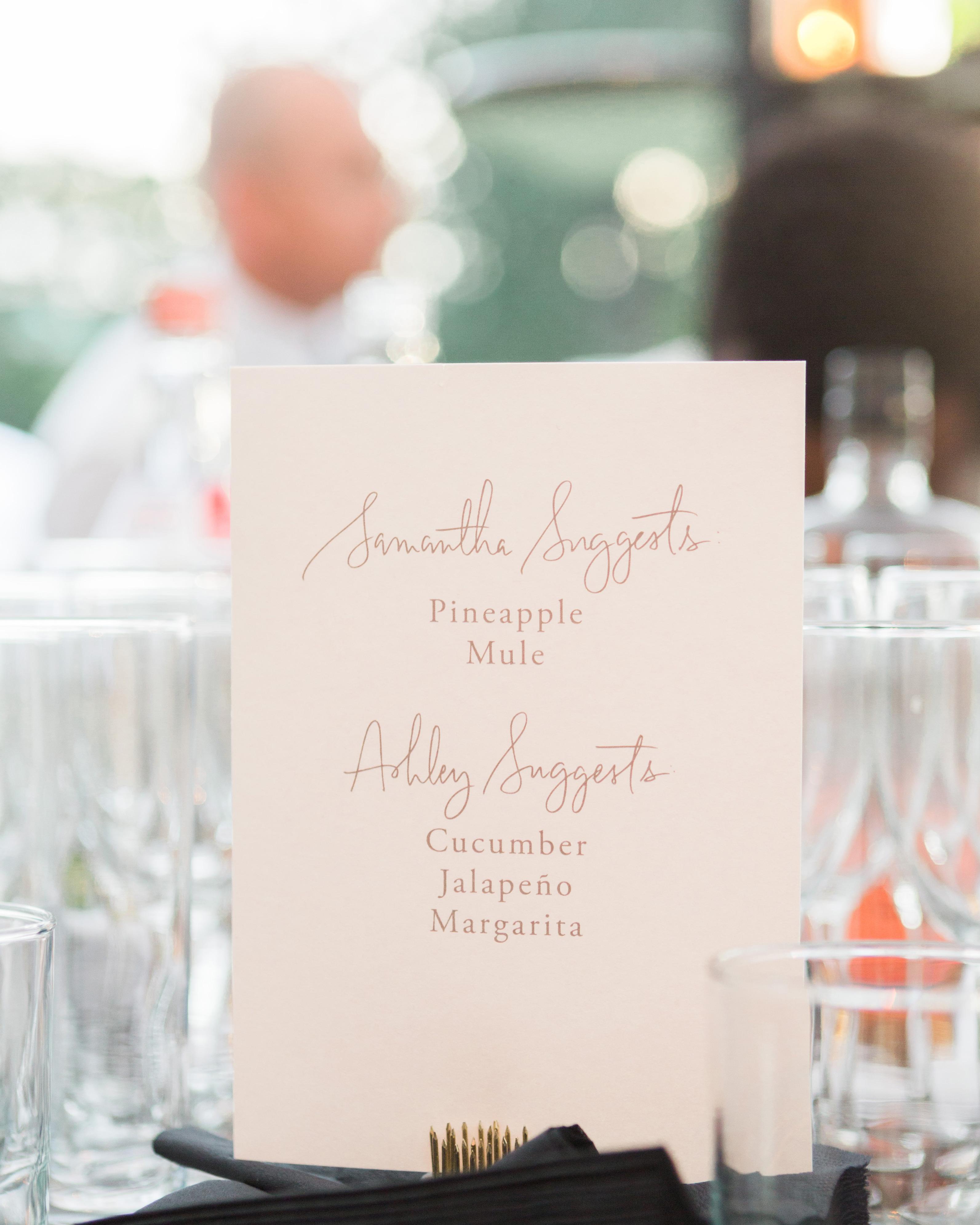 ashley samantha wedding cornwall ny drink menu