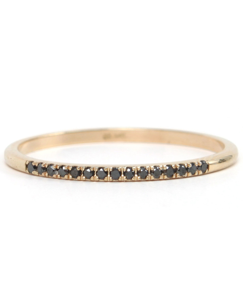 "Catbird ""Fairy Light"" Black-Diamond Ring"