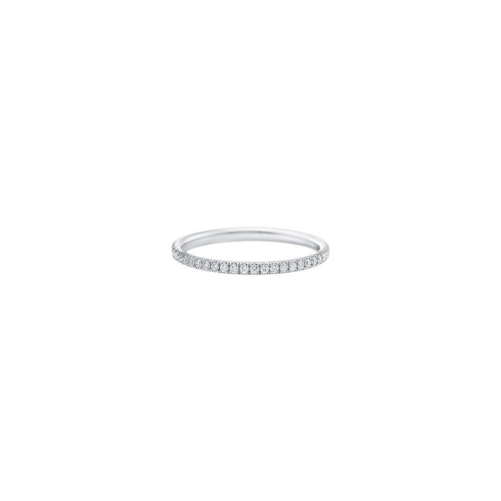 Delicate Wedding Bands, Harry Winston Micropave Band