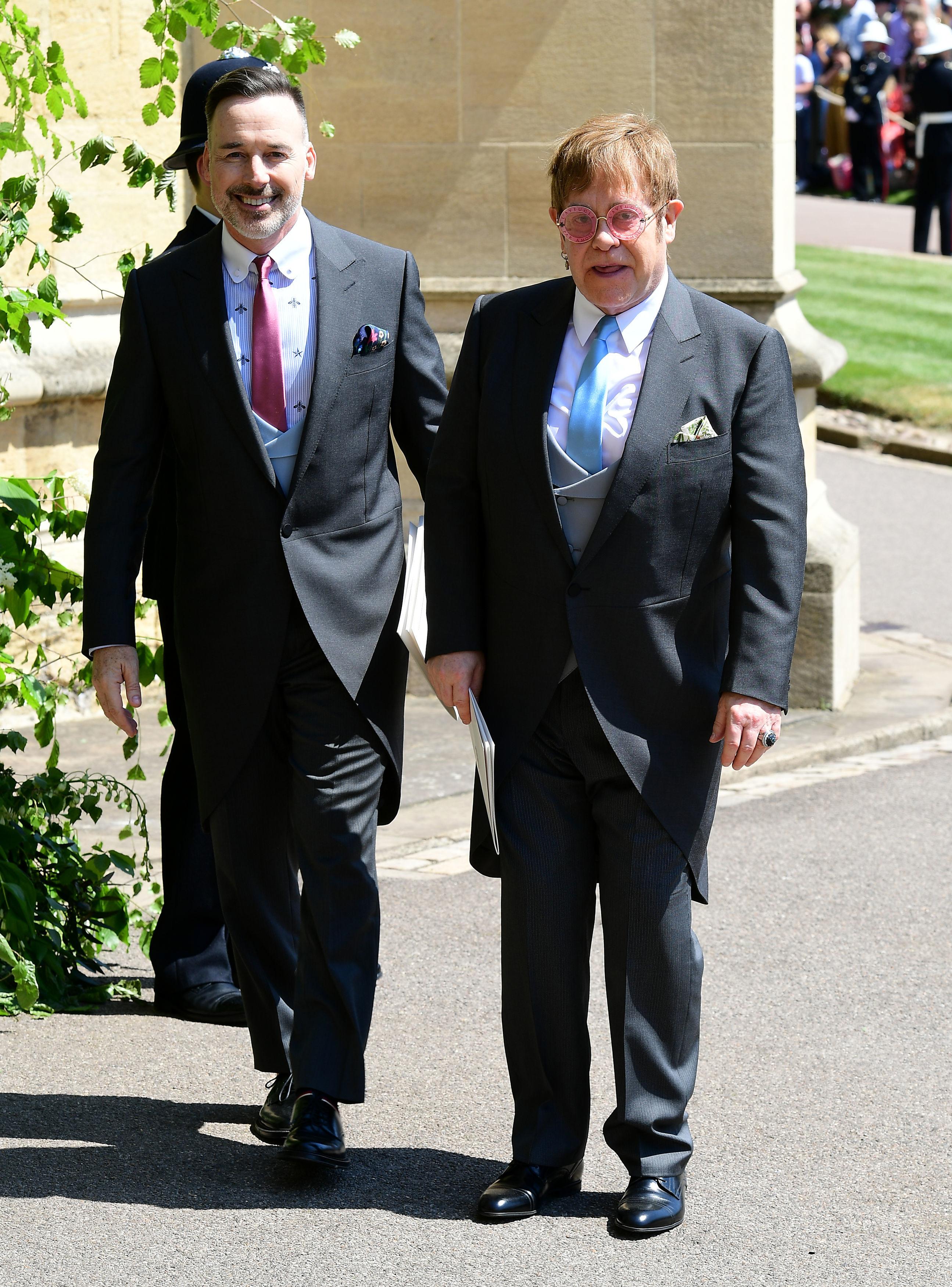 Elton John and David Furnish royal wedding 2018